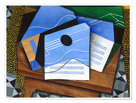 Poster Juan Gris   Guitar on a table   Google Art Project