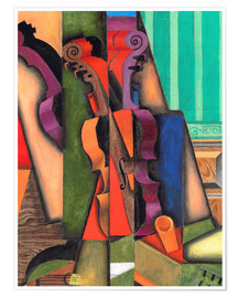 Poster Premium  Violin and guitar - Juan Gris