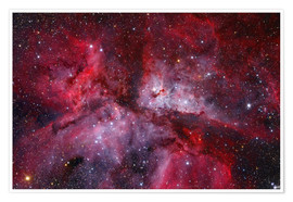 Poster Premium The Grand Carina Nebula in the southern sky.
