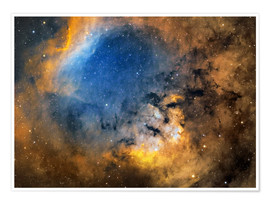 Poster Premium Cederblad 214 emission nebula in the constellation Cepheus.