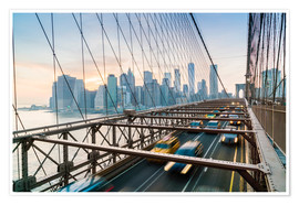 Fraser Hall - Traffico sul ponte di Brooklyn a Manhattan