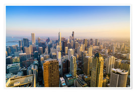Poster  Skyline di Chicago, Illinois - Fraser Hall