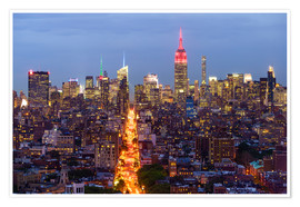 Poster Premium  Empire State Building and city skyline, Manhattan, New York City, United States of America, North Am - Fraser Hall