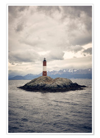 Poster Premium Les Eclaireurs lighthouse, Tierra del Fuego, Argentina, South America