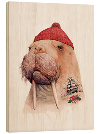 Animal Crew - tattooed walrus red