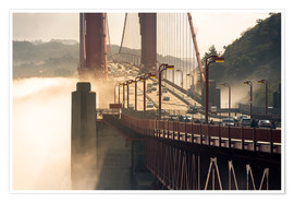 Poster Premium San Francisco - Golden Gate Bridge in the fog