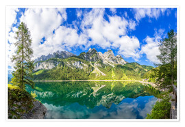 Poster Premium Gosausee with dachstein view