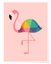 Poster Premium  Fenicottero arcobaleno - Andy Westface