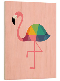 Legno  Rainbow Flamingo - Andy Westface