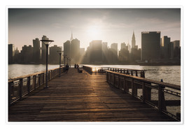 Poster New York City sunset view