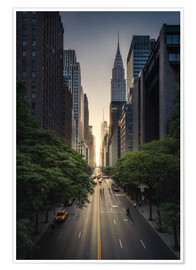 Poster Premium Tramonto a New York City