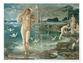 Poster Premium  160314191134 5 the renaissance of venus 1877 by walter crane tate c tate london 2015 - Walter Crane