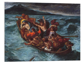 Stampa su PVC  Christ asleep during the storm - Eugene Delacroix