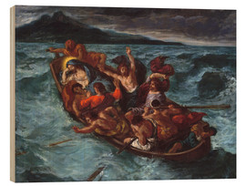 Stampa su legno  Christ asleep during the storm - Eugene Delacroix