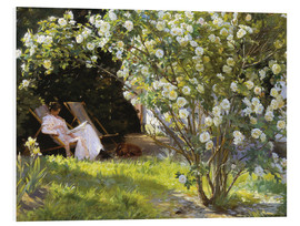 Forex  P S  Krøyer   Roses  Marie Krøyer seated in the deckchair in the garden by Mrs Bendsen's house   Goo - Peder Severin Kroyer