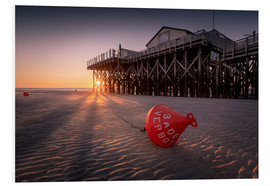 Stampa su schiuma dura  St. Peter Ording | Sunset at the sea - Kristian Goretzki