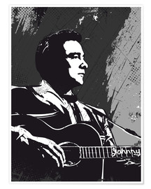 Poster Premium  Johnny Cash - 2ToastDesign