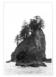 Poster Premium  Rocce alla Second Beach nell'Olympic National Park, USA - Peter Wey