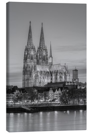 Stampa su tela  Cologne Cathedral black-and-white - Michael Valjak