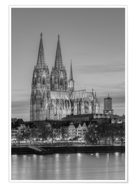 Poster Premium Cologne Cathedral black-and-white