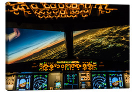Stampa su tela  Airbus A320 Landing in Moscow, Russia - Ulrich Beinert