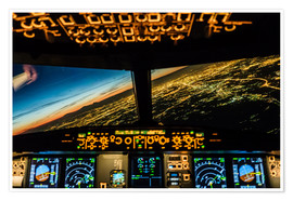 Poster Premium  Airbus A320 Landing in Moscow, Russia - Ulrich Beinert