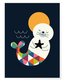 Poster  Seals Mermaid - Andy Westface