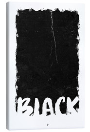 Stampa su tela  Black - Black Sign Artwork