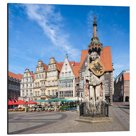 Jan Christopher Becke - Historic Market Square in Bremen with Roland Statue