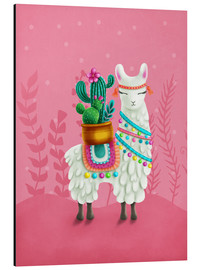Stampa su alluminio  Illustration of a cute llama - Elena Schweitzer