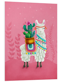 Stampa su schiuma dura  Illustration of a cute llama - Elena Schweitzer