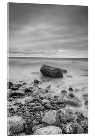 Stampa su vetro acrilico  Granite in the Baltic Sea (long exposure) - Heiko Mundel