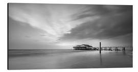 Stampa su alluminio  54Brad beach bar in St.Peter-Ording (long exposure) - Heiko Mundel