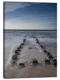 Stampa su tela  Groyne on Sylt (long exposure) - Heiko Mundel
