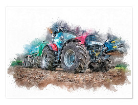 Poster Premium  tractor - Peter Roder