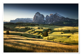Poster Premium Sunrise in the Dolomites