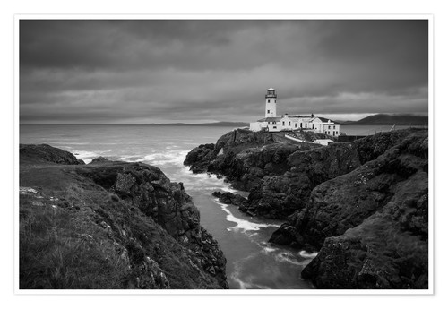 Poster Premium Lighthouse in storm
