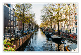 Poster Premium  Beautiful Autumn In Amsterdam City - Radu Bercan