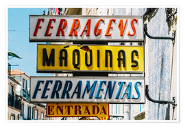 Poster  Colorful Vintage Store Signs In Lisbon - Radu Bercan