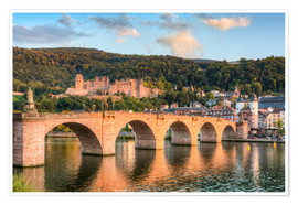 Poster Premium Heidelberg Old Bridge and Castle