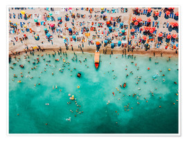 Poster Premium Colorful Summer At The Beach
