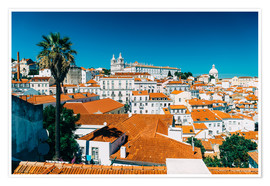Poster  Panoramic View Of Lisbon Skyline - Radu Bercan
