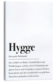 Tela  Definizione Hygge tedesco - Johanna von Pulse of Art