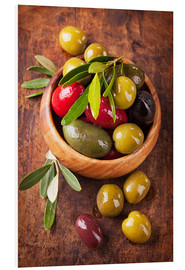 Forex  Bowl with olives on a wooden table - Elena Schweitzer