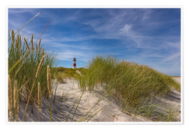 Poster Premium  Lighthouse List / East with dune - Heiko Mundel