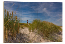 Stampa su legno  Lighthouse List / East with dune - Heiko Mundel