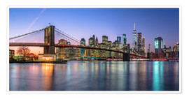 Poster Premium Luci colorate a New York