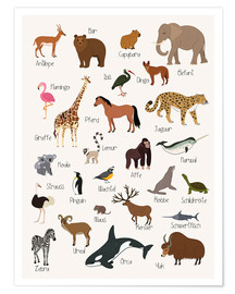 Poster Premium  Animali preferiti - tedesco - Kidz Collection