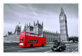 Poster  Bus rosso sul ponte di Westminster - Art Couture