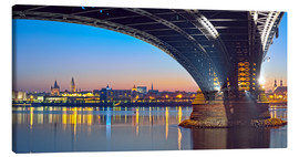 Tela  Mainz Germany  with rhine bridge - Fine Art Images